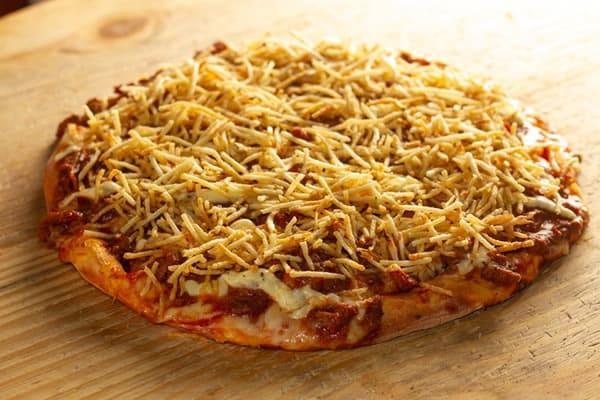 Pizza Strogonoff Palha